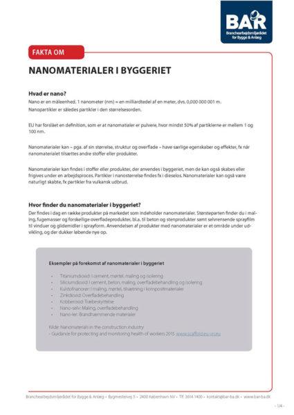 Nanomaterialer i byggeriet