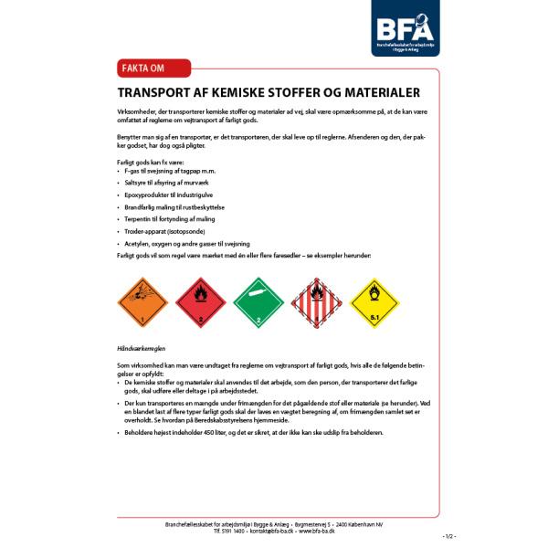 Transport af kemiske stoffer og materialer